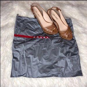 Prada slingback heels